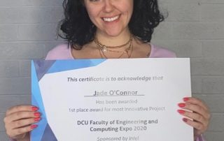 Jade O'Connor Intel Prize Winner